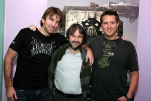 Sharlto Copley, Peter Jackson et Neill Blomkamp.