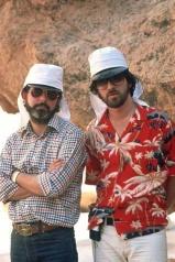 George Lucas et Steven Spielberg durant le tournage.