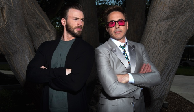 Chris Evans Robert Downey Jr